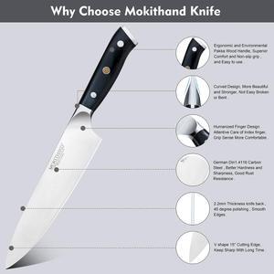 Image 5 - Japanese Kitchen Knives 8 inch Chef Knife Set Germany 1.4116 High Carbon Steel Santoku Fishing Sharp Cooking Knife Handmade