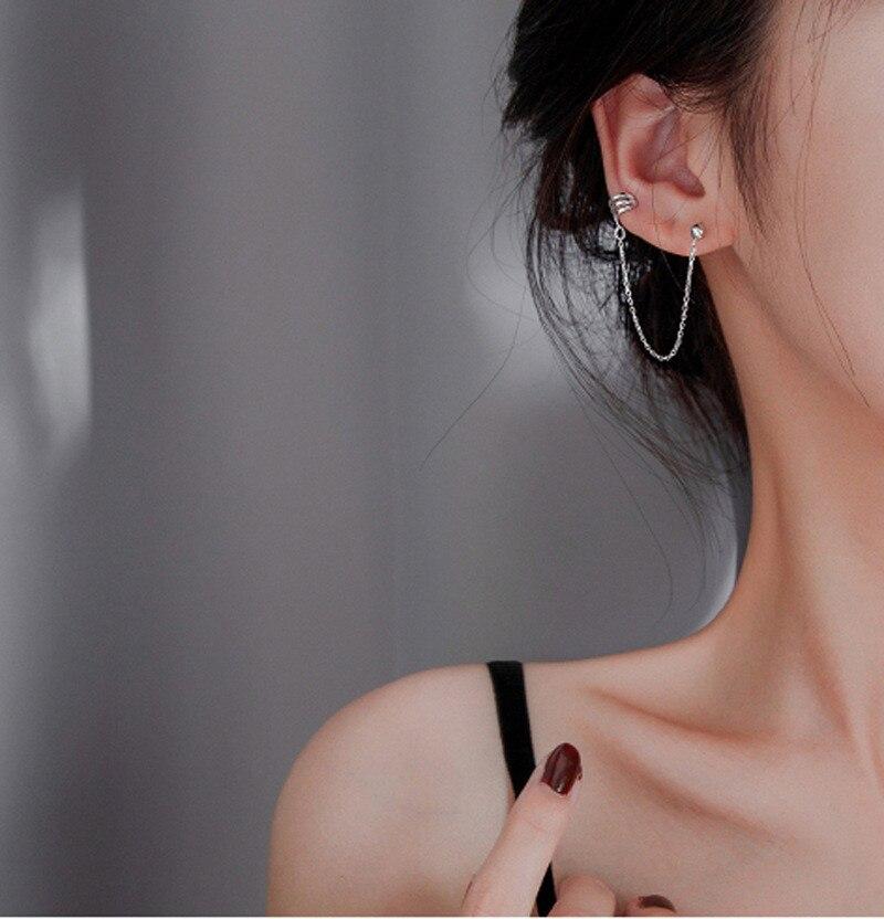 DAIWUJAN 2020 новые модные серьги цепочки с кисточками для женщин и девочек в стиле панк, серьги манжеты, Женские Ювелирные изделия|Серьги-клипсы|   | АлиЭкспресс