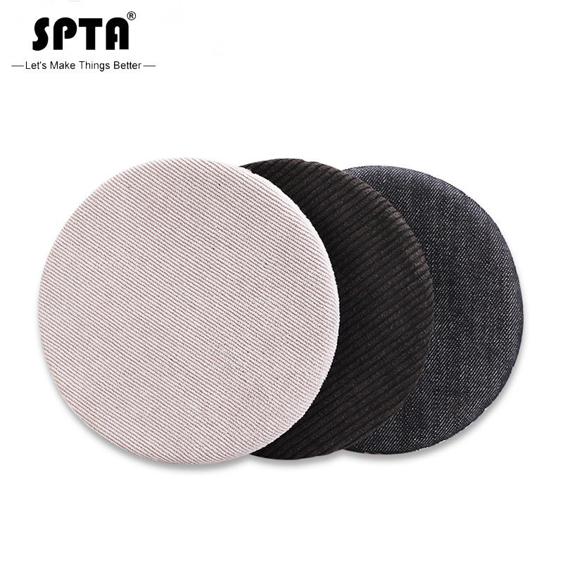 SPTA 6 Inch (150mm)  Denim Polishing Disc Orange Peel Removal Tray  Corduroy Car Polishing Pad Kit For 5 Inch  Backing Plate