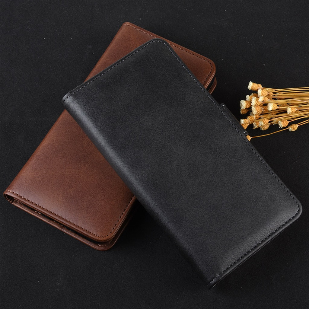 Business Crazy Horse Grain Phone Case For Samsung Galaxy Note 10 6.3 Inch Unique Dual-Use Card Wallet Flip Leather Case Cover