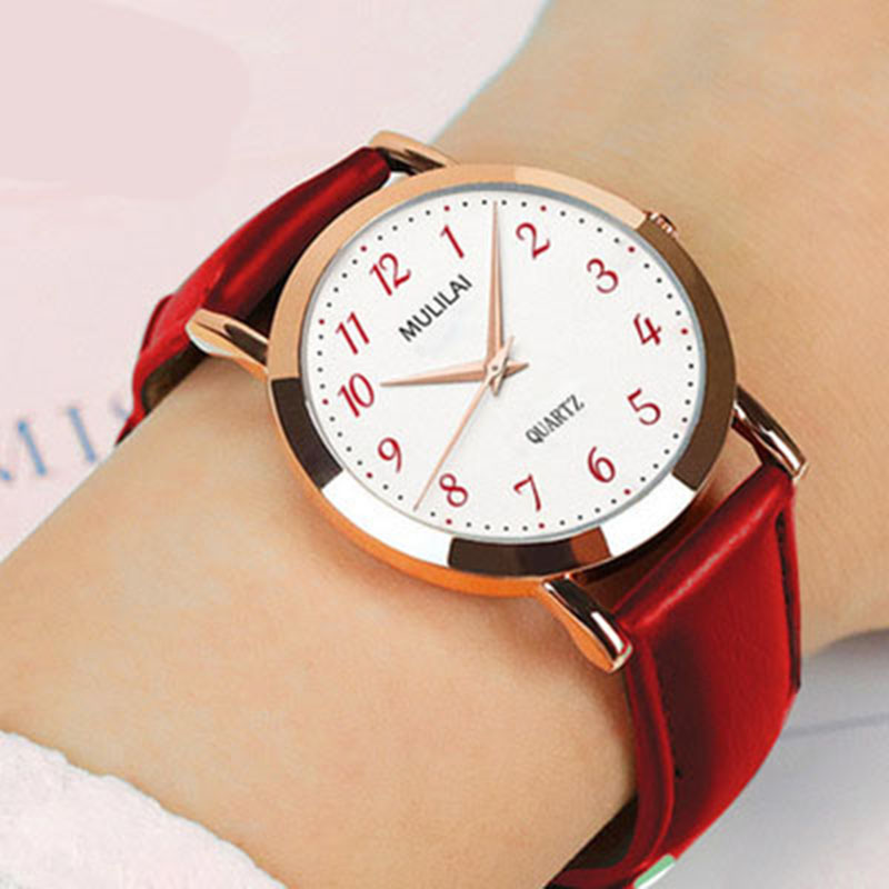 Women's Simple Leather Quartz Watch Women Ladies Dress Watch Students Casual Wristwatch Top Luxury Ladies Watch Relojes Montre