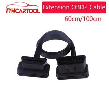 Kabel diagnostyczny OBD2 rozszerzenie kabel OBD2 16Pin męski na 16Pin kobieta złącze obd2 dla OBD II narzędzie diagnostyczne ELM327 kabel tanie i dobre opinie ACARTOOL CABLE 5inch 4inch plastic Kable diagnostyczne samochodu i złącza 0 12kg 3inch