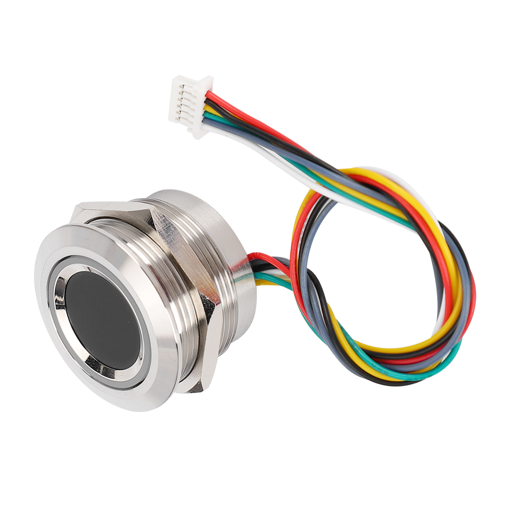 New R503 Circular Capacitive Fingerprint Identification Module With 2-Color Ring Indicator Light Built-in Algorithm Chip