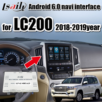 Android9.0 GPS Navigation Box for Land Cruiser LC200  2014-2018 with multimedia video interface support wireless carplay