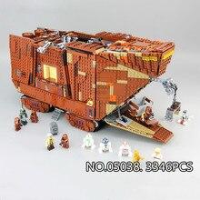 Star wars Jabbas Sail Barge Save Princess Leia Return of the Jedi Movie Series Wars Building Blocks Toys Kid Gift Starwars