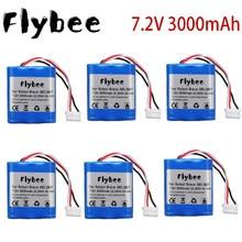 Novo 7.2v 3000mah bateria de íon de lítio para irobot braava 380 380t hortelã 5200 5200b 5200c aspirador de pó varrendo robot1-10PCS