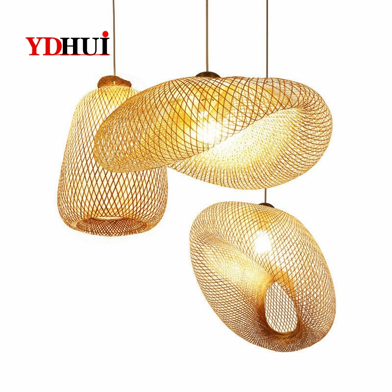 Wicker Rattan Pendant Light Vintage