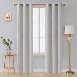 白熱絶縁遮光カーテンリビングルーム寝室グレー厚い窓カーテン治療