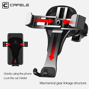 Image 2 - CAFELE Gravity reaction Car Mobile phone holder Clip type air vent monut GPS car phone holder for iPhone Samsung huawei xiaomi