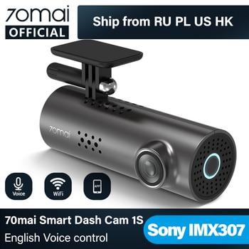 70mai Smart Dash Cam 1S English Voice Control 70 Mai Car Camera 1080P 130FOV Wifi 70mai Car DVR Car Recorder Auto Recorder Wifi