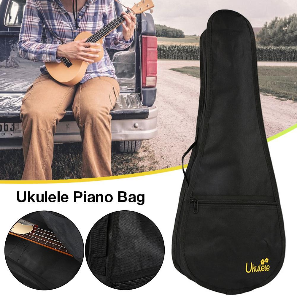 Portable Ukulele Pouch Ukulele Case Oxford Nylon Black Ukulele Padding Storage Bag Portable Ukulele Pouch 21 23 25 Inches