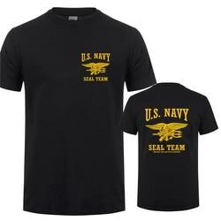 Camiseta estampa de vedação u.s. navy apenas, dia fácil, ontem, manga curta masculina com 21 cores QR-021