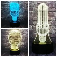 Creative Bulb 7 Color RGB Change 3D Diode miniature incandescent lamp Decor LED Room Mood Night Ligh