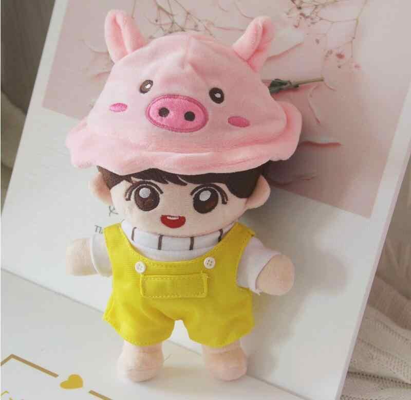 20 センチメートル洋服人形 kpop 人形帽子ぬいぐるみソフトスカートセーターままごと人形アクセサリーギフト