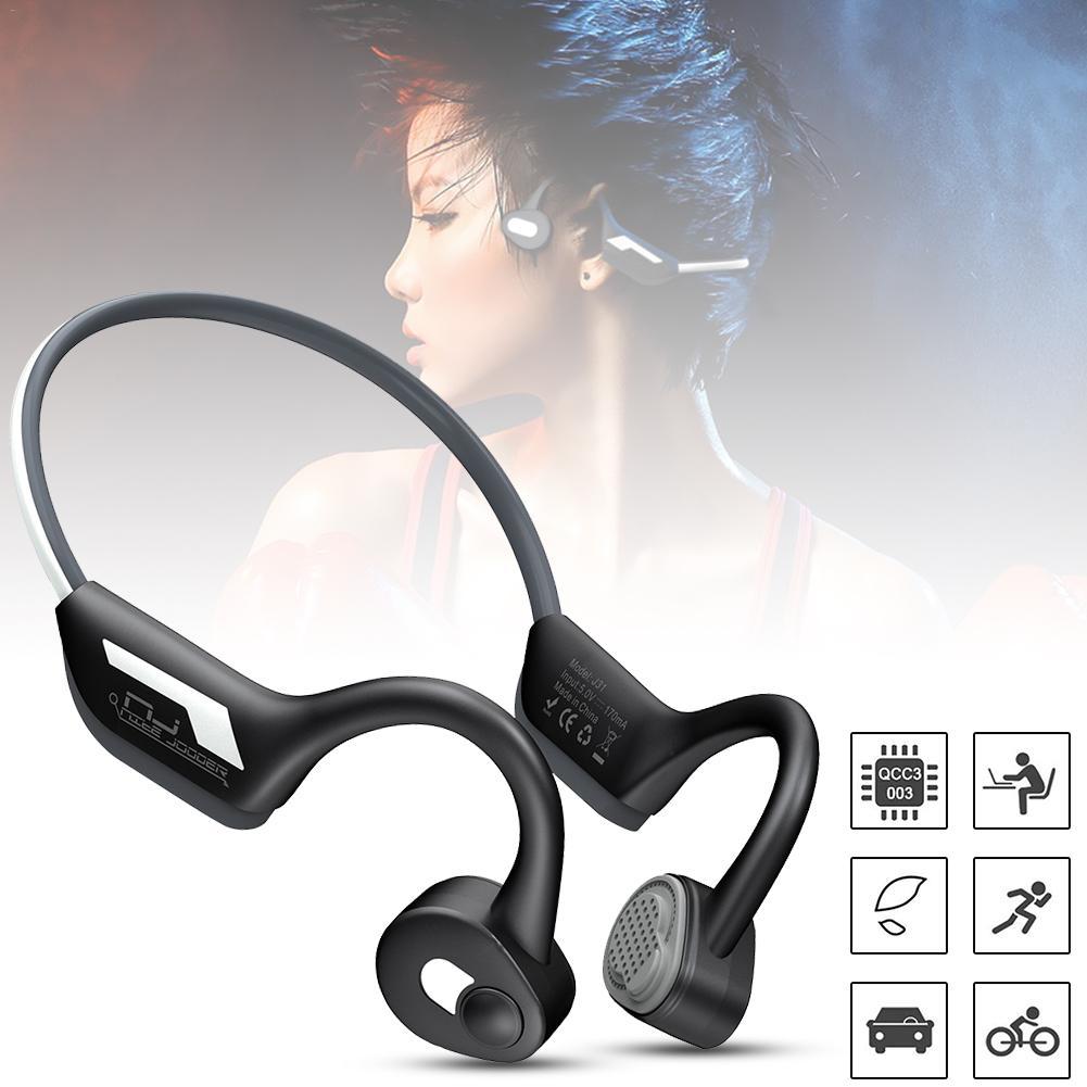J31 Newest Wireless Bone Conduction Headphones Bluetooth 5.0 Binaural Stereo Bone Headset Waterproof Sports Bluetooth Earphone