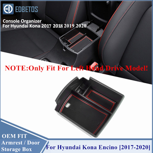 Image 2 - Armrest Box For Hyundai Kona Encino 2017 2018 2019 2020 Accessories Center Console Container Tray Holder Stowing Tidying