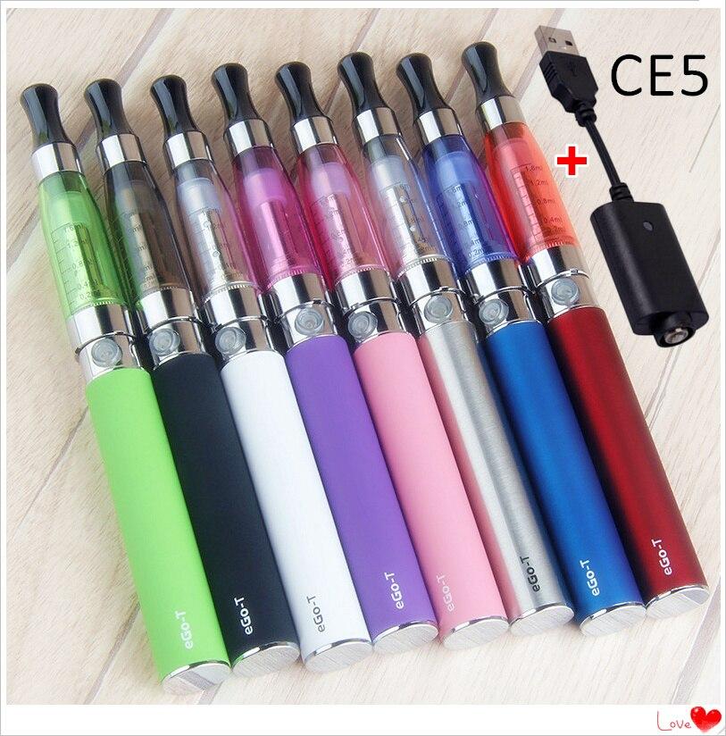 EGO CE5 Starter Kit EGO-T Battery 1100/900/650mah Blister Vape Kit E Liquid Electronic Cigarette 1.6ml CE5 Atomizer USB Charger