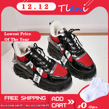 Tleni New lady 2019 Spring Breathable Sneakers Shoes Women Flats Platform