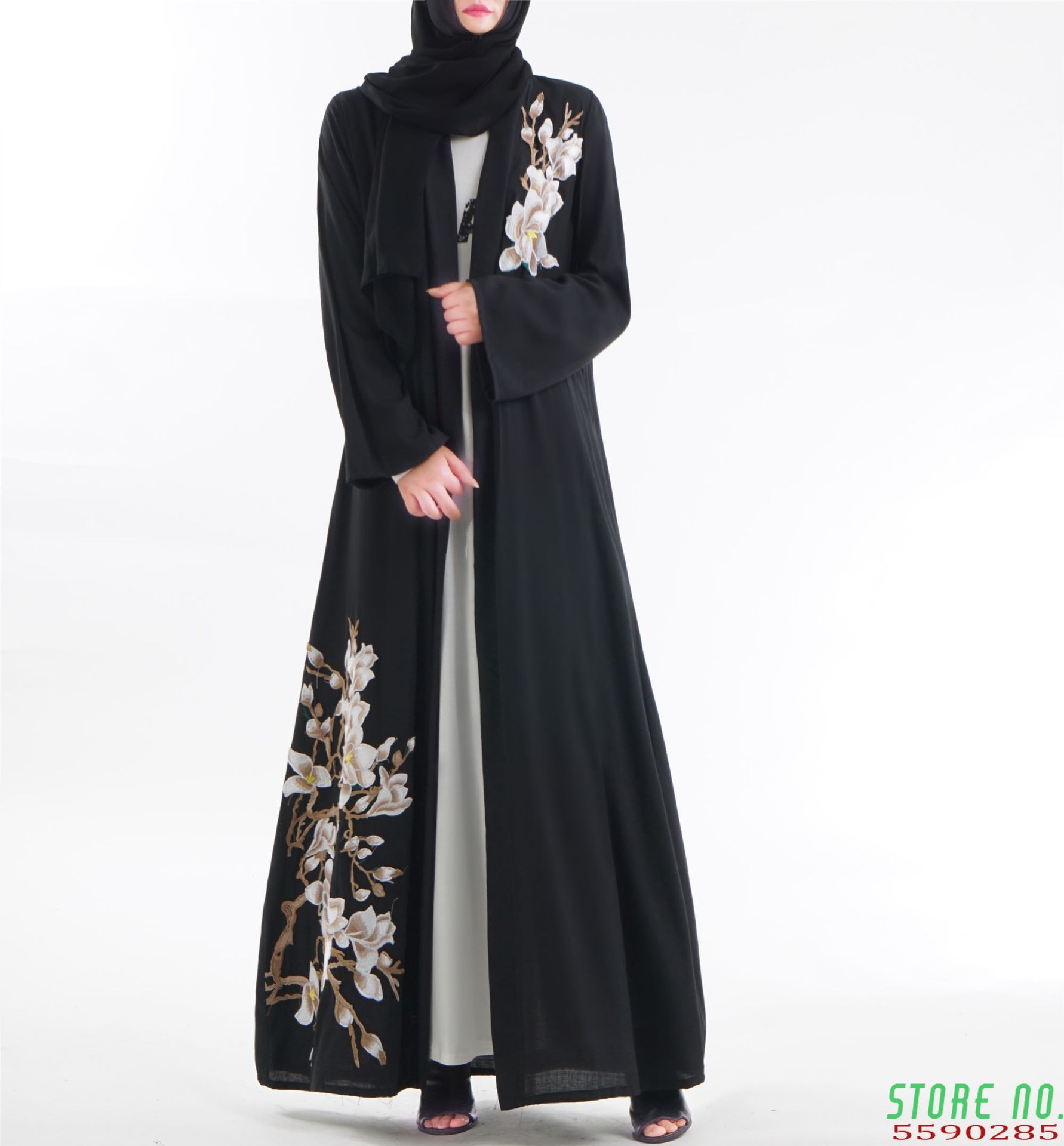Moroccan Kaftan Middle Eastern Dress Muslim Arabic Islamic Dubai Kaftan Turkey Indonesia Abaya Big Size Fashion Vestidos image