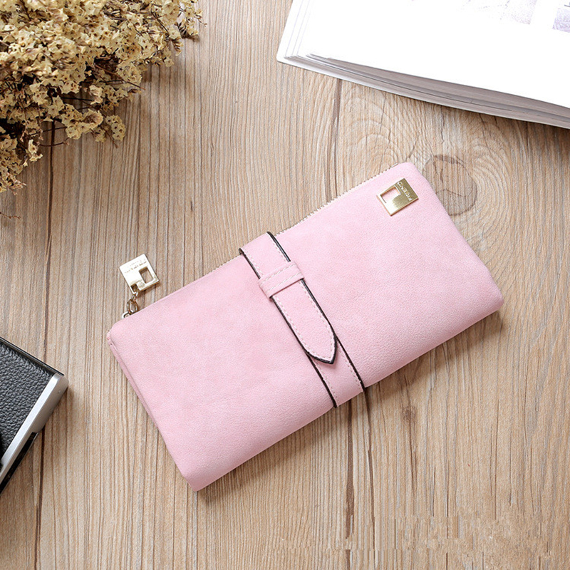DIHOPEDrop Shipping Hot 2020 New Fashion Women Long Wallet Large Wallets Female Purse Lady Purses Phone Pocket Card Holder