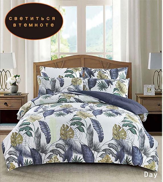 YAXINLAN постельное белье комплект хлопок подсветки двухцветный цветы рисунок простынь пододеяльник наволочка 4 7 части