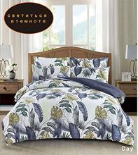 Yaxinlan 寝具セット夜光 2 色純粋な綿植物の花花パターンシートキルトカバー枕 4 7 個
