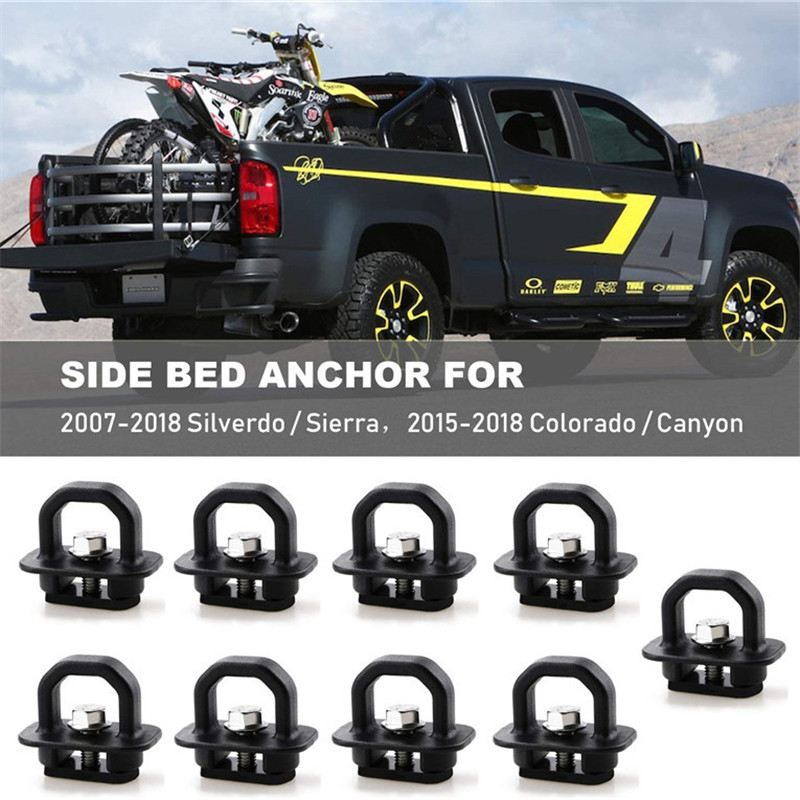 Tie Down Anchors 4Pcs Truck Bed Side Wall Anchor fit for 07-18 Chevy Silverdo//GMC Sierra,15-18 Chevy Colorado//GMC Canyon DZ97903