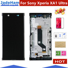Per Sony Xperia XA1 Ultra G3221 G3212 G3223 G3226 Lcd schermo di Visualizzazione Dello Schermo di Tocco di Vetro Con Digitizer Assembly Parti di Riparazione con telaio