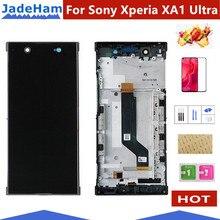 ЖК экран для Sony Xperia XA1 Ultra G3221 G3212 G3223 G3226, дисплей с сенсорным стеклом, дигитайзер в сборе, запасные части с рамкой
