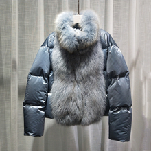 New arrival2019 fashion winter coat women natural fox fur parka real fur 90% down