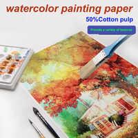 Aquarell malerei papier mit raue 、 feine 、 mittlerer textur, waschbar, verschleiß-beständig, scratch-beständig, trockenen und nassen malerei