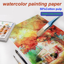 watercolor painting paper with…
