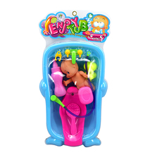 Plastic Baby Doll Duck Set Kids Bathtime Tub Play Fun Toys Set Gift Random