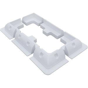 Image 3 - Beyaz ABS GÜNEŞ PANELI montaj braketleri Z montaj braketi seti ve çerçeve seti kamp RV tekne güneş stand braketi