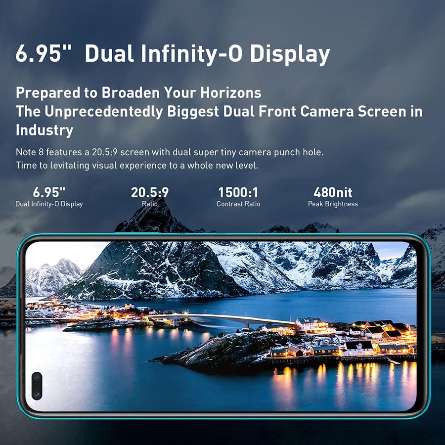 Global Version Infinix Note 8 Smart Phone 6GB RAM 128GB ROM 6.95 Inch HD+ Display 5200mAh 18W Fast Charge Mobile X692-K