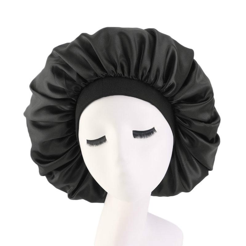 Женская шляпа-тюрбан с широкими краями, шелковая шляпа с большим принтом, аксессуар для волос