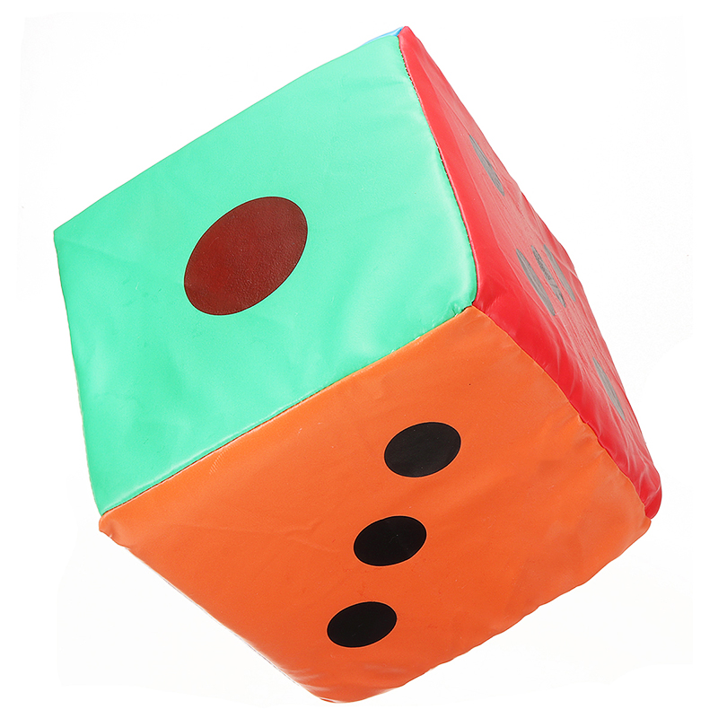 Colorful Giant Sponge Faux Leather D6 Spot Dice Six Sided Party Games Toy 20CM