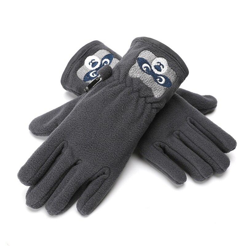 Kids Boys Girls Warm Windproof Gloves Cute Cat Striped Winter Mittens 2 to 6Y