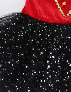 Image 5 - Ragazze dei capretti di Halloween Ringmaster Circo Costume Nappa Paillettes Maglia Vestito Dal Tutu di Balletto Ginnastica Body Usura di Prestazione di Ballo