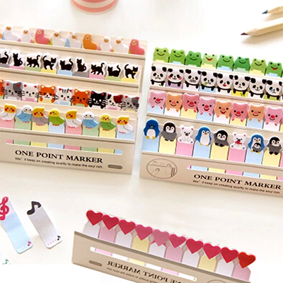 Mini Kawaii Memo Pads DIY N Times Stickers Cartoon Animal Cat Panda Music Post It Note Office School Supply Japanese Stationery