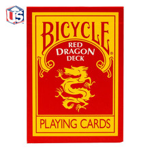 1 Deck Bicycle Red Dragon Playing Cards by Magic Makers Poker Size Magic Cards Collectable Decks Magic Tricks Props for Migician недорого