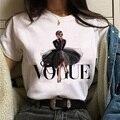 Женские футболки, модная футболка с принтом принцессы, летняя футболка оверсайз, Повседневная рубашка с коротким рукавом, модные топы, женс...