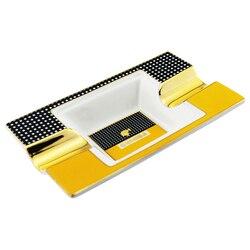 Cohiba Keramik Zigarre Aschenbecher halter 2 zigarren Tragbare Home Zigarette Asche Slot mit geschenk box