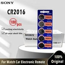 SONY-pilas de botón CR2016 3V CR 100 LM2016 BR2016 DL2016, batería de litio para reloj, juguete electrónico remoto, 2016 Uds.