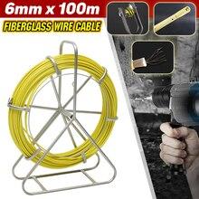 Puller Reel Cable Fiberglass 6mm-Diameter Wall-Wire Yellow Conduit Fish-Tape Metal
