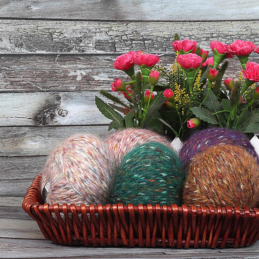 Thuis Textiel Kleurrijke Alpacawool Hand-Gebreide Jas Trui Sjaal Lijn In De Dikke Wol Hals Alpaca wol 2019 hot koop