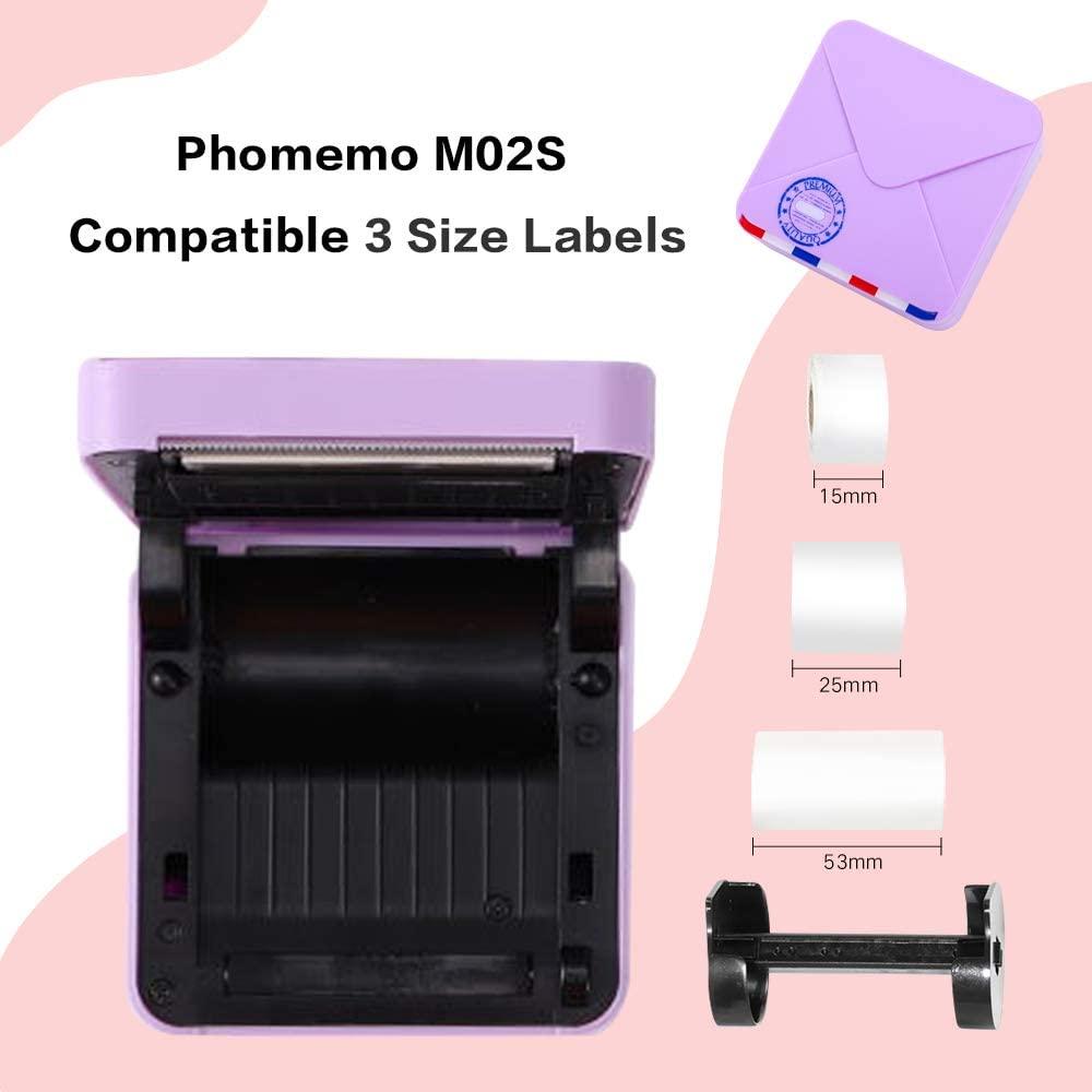 Phomemo m02s impressora de fotos mini impressora