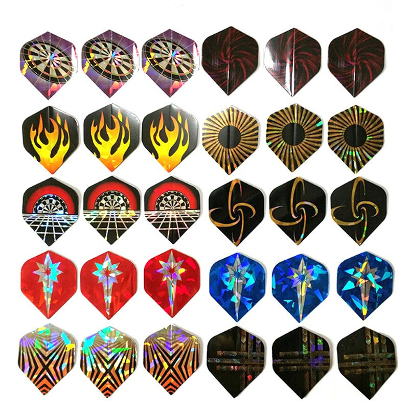 Dart Flights Set 30PCS Multiple Styles Colorful PET Darts Flights Professional Darts Newly Dart Accessories