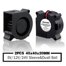 2PCS 40mm 4020 Turbo Blower Fan 24V 12V 5V Ball Bearing Cooling Fan 40mm x 40mm x 20mm Blower Cooler Fan for 3D Printer Cooler 20mm x 26mm x 60mm white plastic ball bearing cage bushing retainer