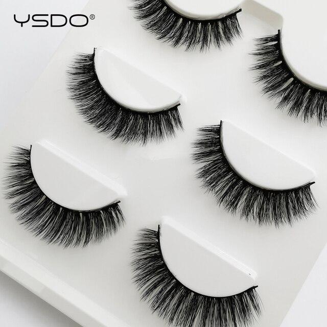 3 Pairs mink false eyelashes natural long 3d mink lashes fluffy wispy fake lashes thick cilios makeup eyelash extension tools 3